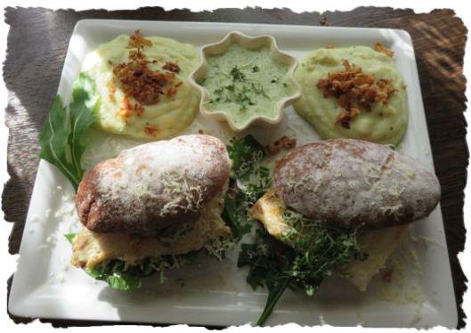 Fisch Burger mit Sauce Tatare