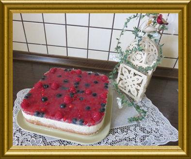 Milchreis -Obst -Torte