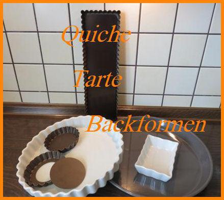 Tarte-Quiche-Formen für Mürbteig und Pasteteteig