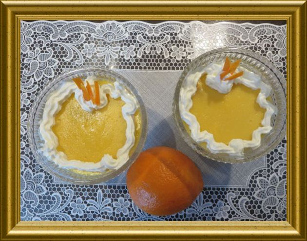 Apfelsinenflammeri aus der Taraland Lehrküche