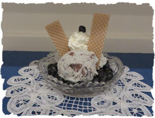 Joghurt - Heidelbeer - Vanille Eiscreme