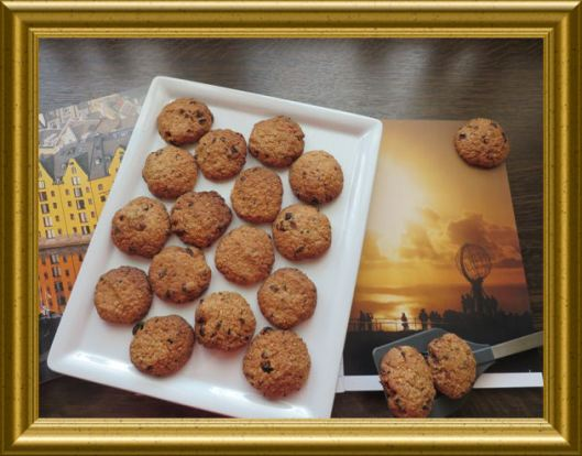Havregrynskjeks - Hafer-Rosinen Kekse vom Nordkap
