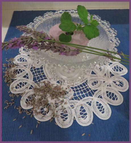 Lavendel-Sorbet aus der Provence
