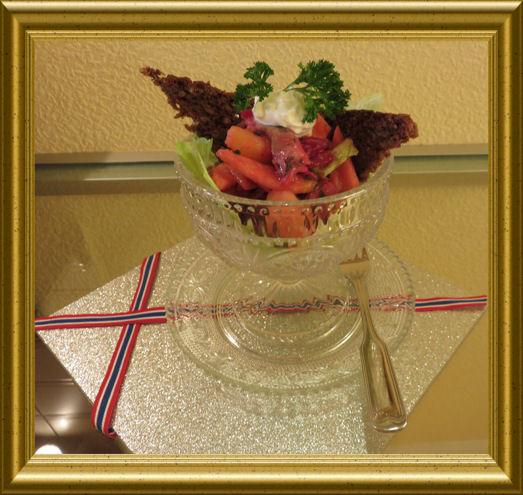 Sildsalat - Norwegischer heringssalat