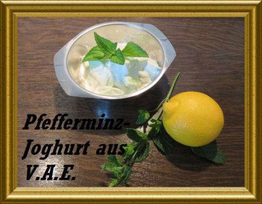 Pfefferminz-Joghurt,arabisch