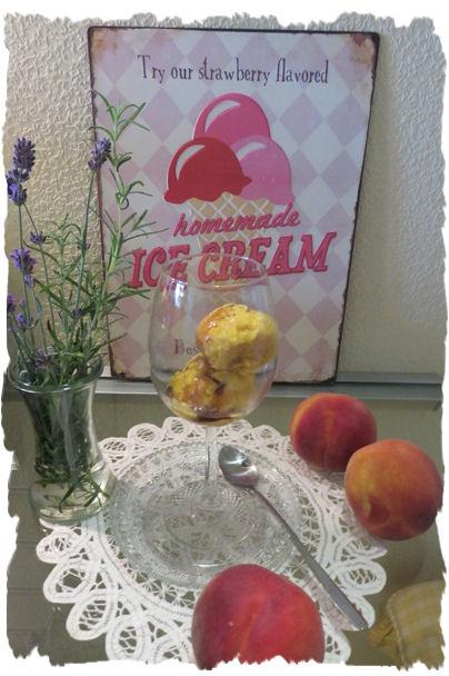 Pfirsich-Melba-Eis