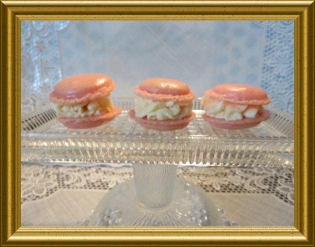 Rosa-Macarons-mit-Limettencreme 5