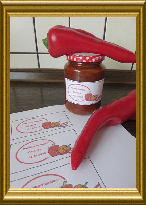 Tomaten-Paprika-Chutney aus der Taraland Lehrküche