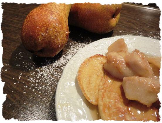 Crépes mit Karamellbirnen aus der Taraland Lehrküche