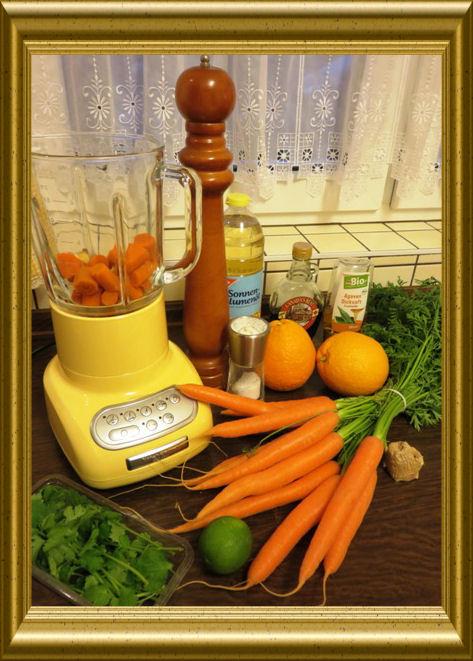 Karotten-Orangen-Smoothie aus der Taraland Lehrküche