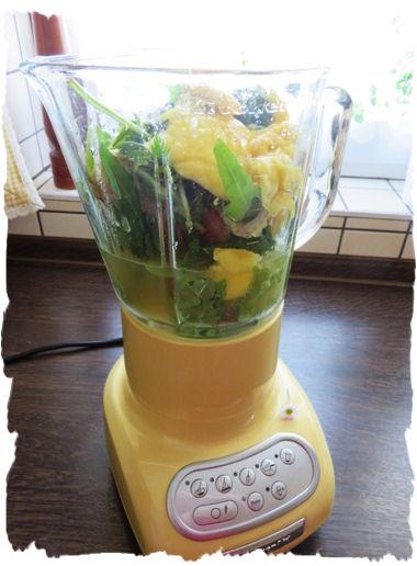 Mango-Rucola-Smoothie aus der Taraland Lehrküche