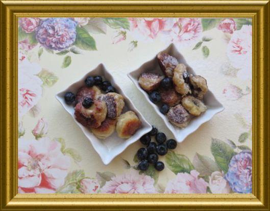 Süsse gnocchis mit Heidelbeeren gefüllt