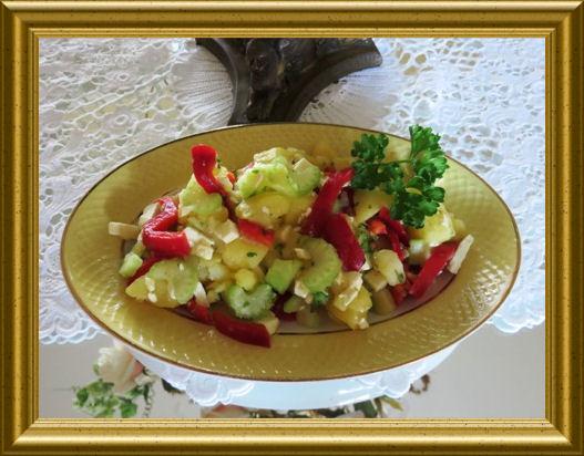 Kartoffel-Feta-Salat aus der Taraland Lehrküche