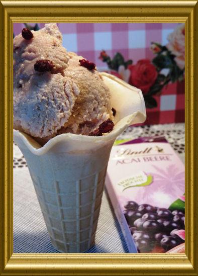 Acai Beeren Eiscreme aus der Taraland Lehrküche