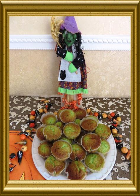 Grüne Halloween Muffins 2015