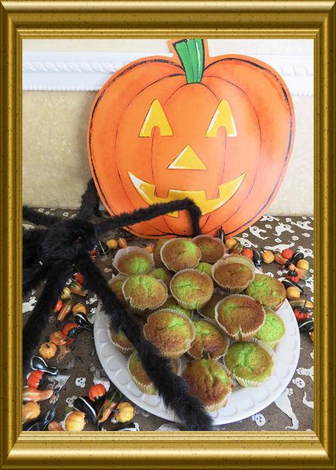 Grüne Halloween Muffins