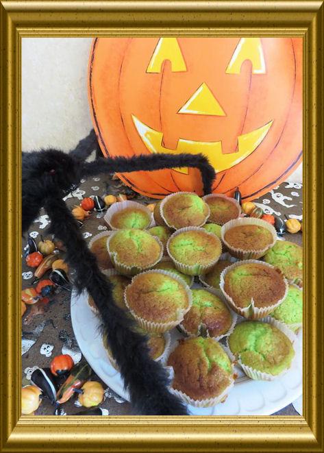 Grüne Halloween Muffinsaus der Taraland Lehrküche