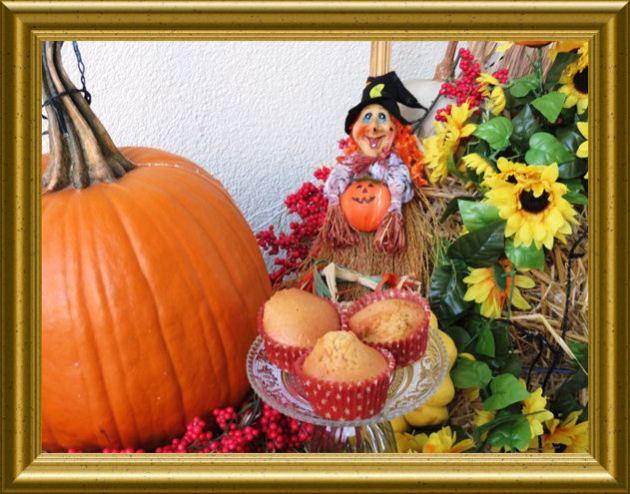 Kürbis Muffins aus der Taraland Lehrküche Halloween 2015