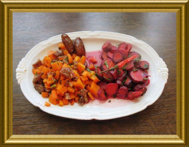 Möhren Karotten Gemüse zweierlei aus der Taraland Lehrküche
