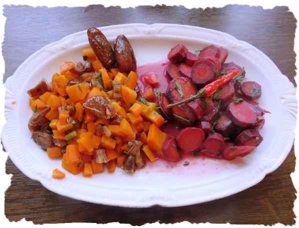 Möhren Karotten Gemüse zweierlei