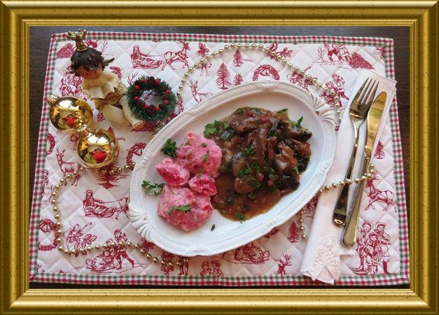 Rehgeschnetzeltes mit Shitake Pilzen in Portweinsauce zum 1. Advent - Rezept aus der Taraland Lehrküche