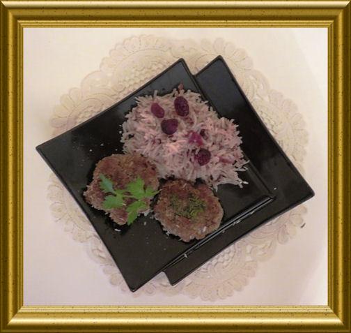 Rempah - indonesische Frikadellen mit Cranberry-Basmatireis aus der Taraland Lehrküche