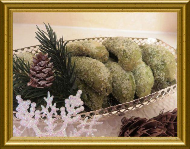 Vanillekipferl mit Matchaaus der Taraland Lehrküche