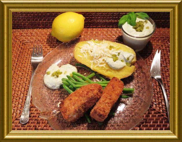 Gebackener Lachs mit Sauce Tatare aus der Taraland Lehrküche