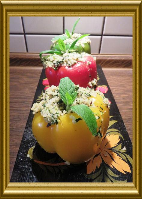 Gefüllte Paprikaschoten mit Quinoa aus der Taraland Lehrküche