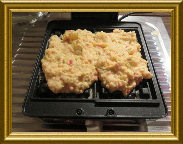 Kartoffel-Paprika-Waffeln aus der Taraland Lehrküche
