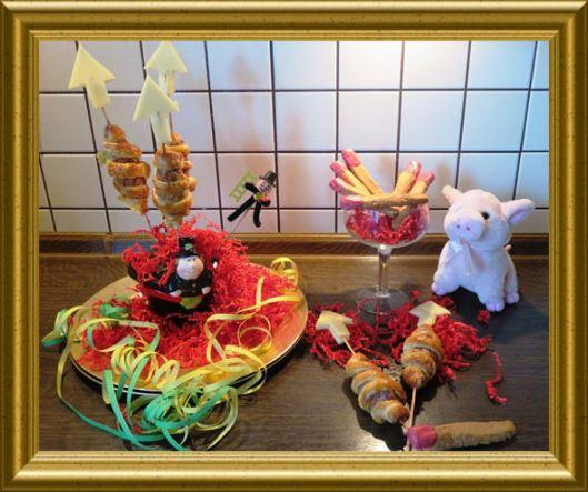 Silvesterraketen mit Streichhölzern aus der Taraland Lehrküche