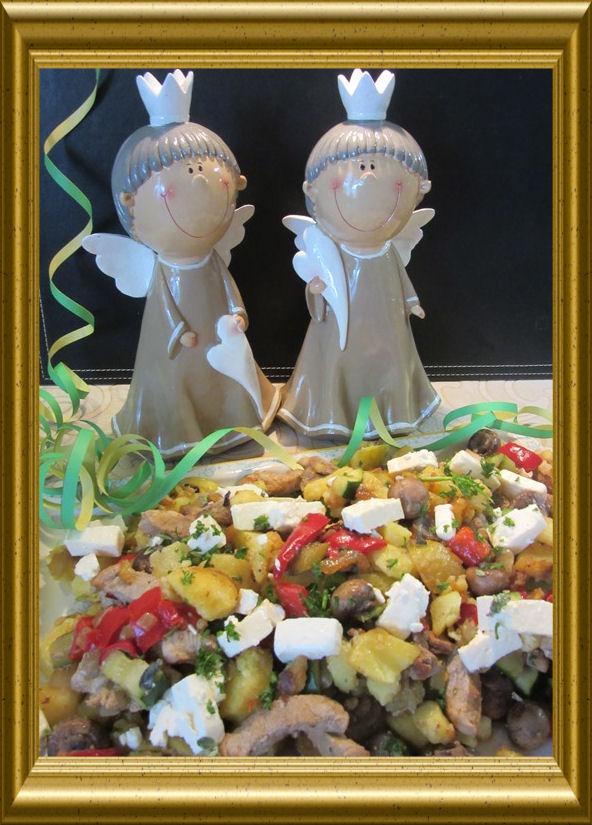 Schafskäse-Kartoffel-Pfanne aus der Taraland Lehrküche