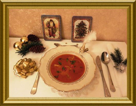 Tomatencrémesuppe mit Basilikum aus der Taraland Lehrküche