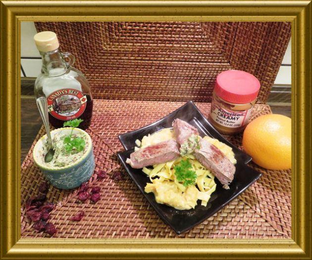 Fettuccine mit Orangen-Erdnusss Sauce und Ahornsirup Butter aus der Taraland Lehrküche