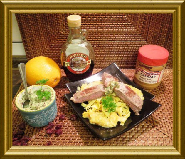 Fettuccini mit Orangen-Erdnusss Sauce und Ahornsirup Butter aus der Taraland Lehrküche