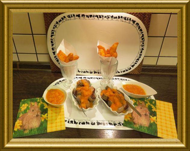 Currywurst mit Kürbisketchup und Belgischen Fritten aus der Taraland Lehrküche