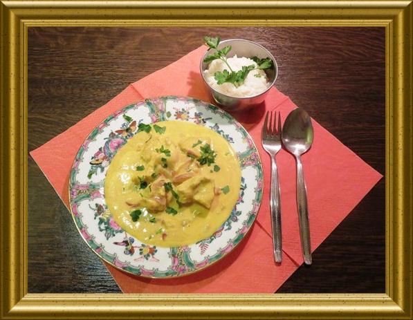 IIndisches Curryhähnchen aus der Taraland Lehrküche