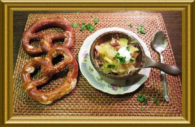 Kapustnica – Sauerkrautsuppe aus der Taraland Lehrküche
