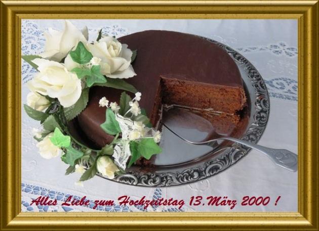 Sachertorte á la Taraland zum 13.März 200 - Unser Hochzeitstag!