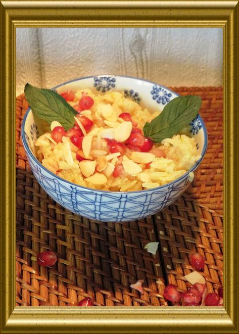 Mandel-Granatapfel-Reis aus der Taraland Lehrküche