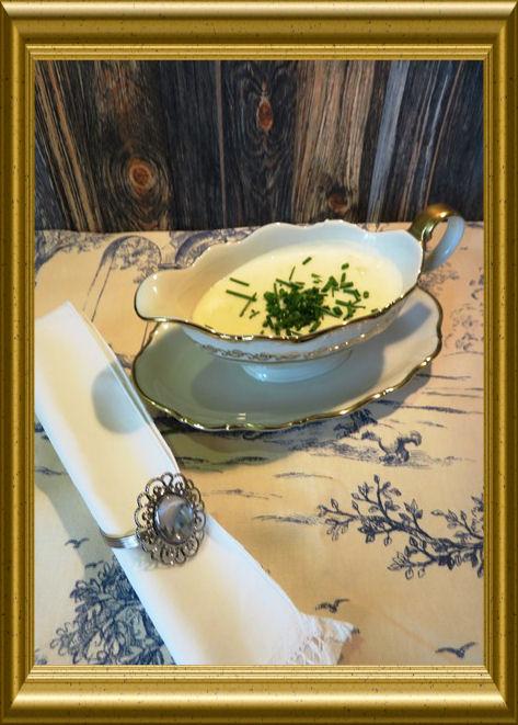 Merrettich -Sahne-Sauce aus der Taraland Lehrküche