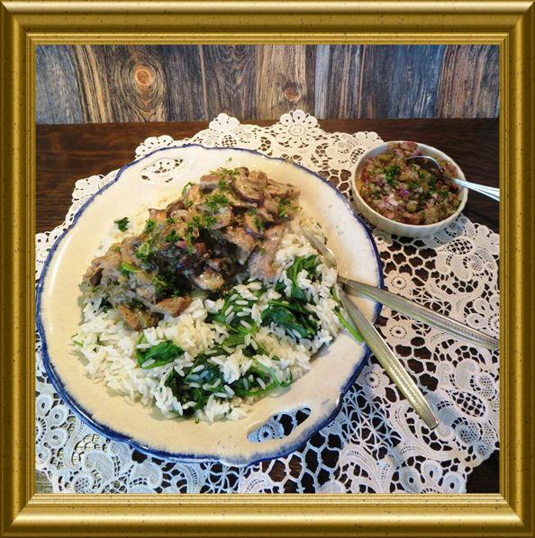 Schnelles Stroganoff mit Reis aus der Taraland Lehrküche