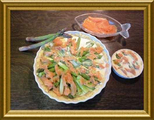 Spargel-Räucherlachs-Quiches aus der Taraland Lehrküche