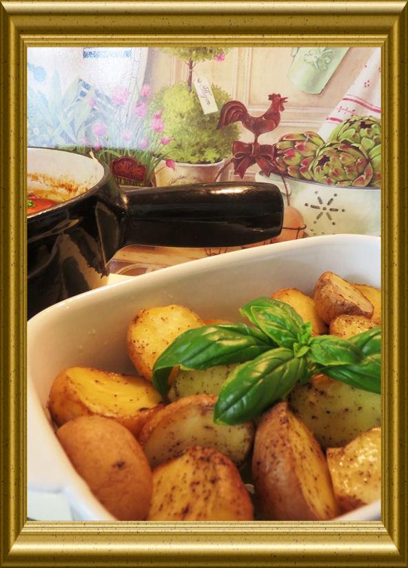 Osso Buco in Tomatensauce mit Kartoffelspalten aus der Taraland Lehrküche