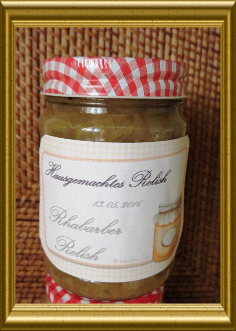 Rhabarber Relish aus der Taraland Lehrküche