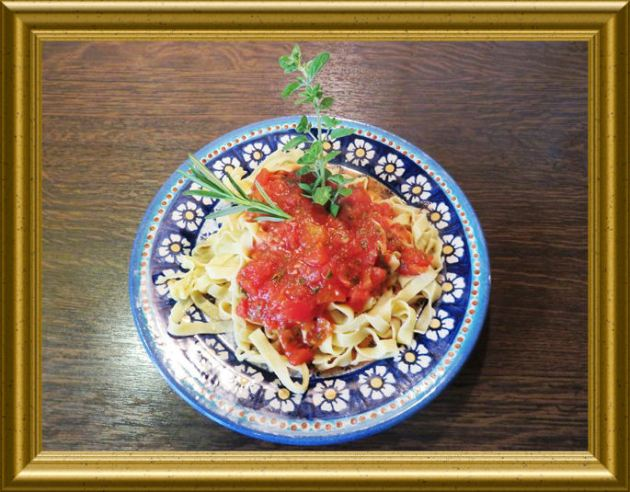 Würzige Tomatensauce -dip aus der Taraland Lehrküche
