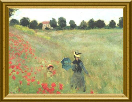 Monet Mohnfeld
