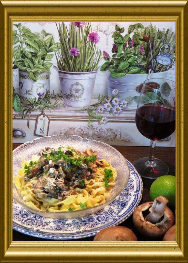 Steinpilz Champignon Pasta aus der Taraland Lehrküche