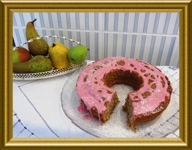 Rotweinkuchen mit Birnen aus der Taraland Lehrküche