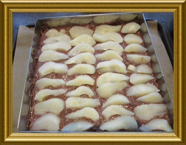 Schokokuchen mit versunkenen Birnen aus der Taraland Lehrküche